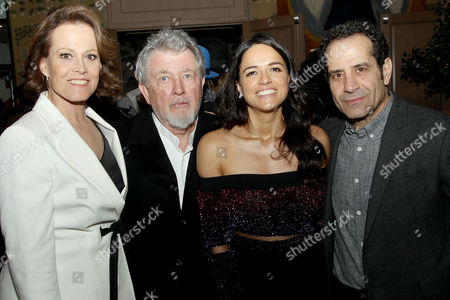 Stock Picture of Sigourney Weaver, Walter Hill (Writer, Director), Michelle Rodriguez, Tony Shalhoub