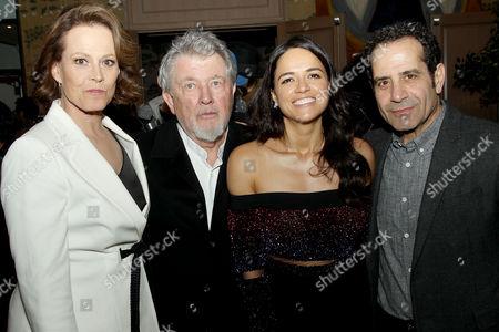 Stock Image of Sigourney Weaver, Walter Hill (Writer, Director), Michelle Rodriguez, Tony Shalhoub
