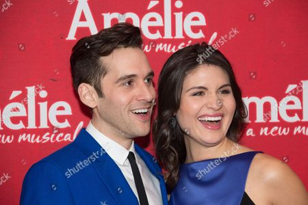 Stock Image of Adam Chanler-Berat and Phillipa Soo