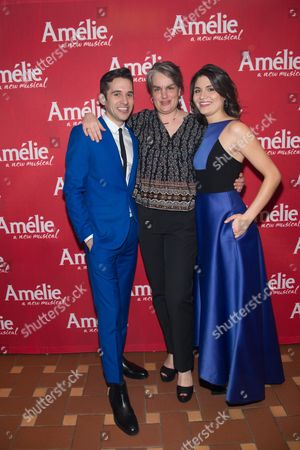 Adam Chanler-Berat, Pam MacKinnon and Phillipa Soo