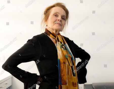 """Stock Photo of Actress and playwright Katharine Houghton, who starred in the 1967 film """"Guess Who's Coming to Dinner"""" with Sidney Poitier, poses for photographs in New York. The film, which earned 10 Oscar nominations (winning two) and landed among the 100 greatest movies by the American Film Institute, is celebrating its 50th anniversary"""