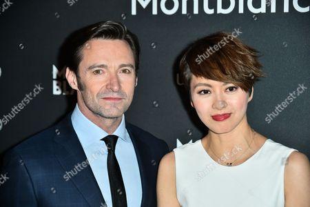 Stock Image of Hugh Jackman, Gigi Leung