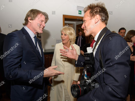 Stock Photo of Mark Getty, director of the British School, Camilla Duchess of Cornwall and Chris Jackson