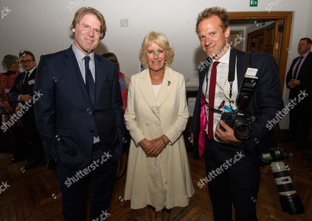 Stock Picture of Mark Getty, director of the British School, Camilla Duchess of Cornwall and Chris Jackson