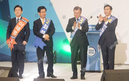 Lee Jae-Myung, Choi Sung, Moon Jae-In and An Hee-Jung