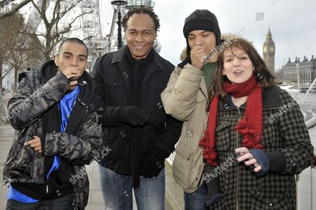 Editorial picture of Ray Parker Jnr and UK Beatbox unite for unique Ghostbusters performance, Jubilee Gardens, London, Britain - 03 Feb 2009
