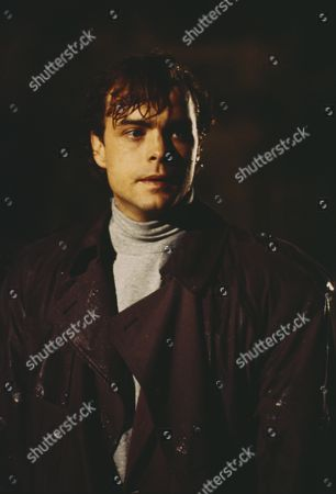 Emmerdale Plane Crash Disaster - Josh, as played by Peter Warnock, can't get through to the village because of the damage to Skipdale Bridge. He decides to try and wade across the river. (Ep 1830 - 4th January 1994).