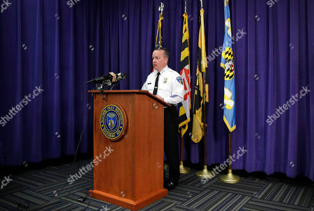 Baltimore Police Department Commissioner Kevin Davis speaks at a news conference at the department's headquarters in Baltimore, in response to the Department of Justice's request for a 90-day delay of a hearing on its proposed overhaul of the police department