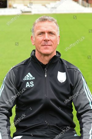 Alec Stewart OBE portrait during the Surrey CCC Photocall 2017 at the Oval, London
