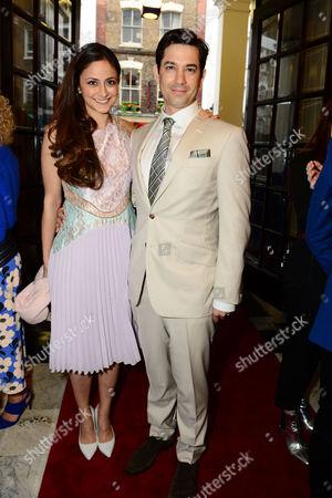 Stock Image of Adam Garcia with his wife Nathalia Chubin