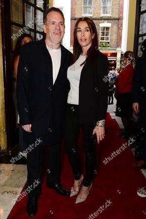 Chris Moyles with his girlfriend, Tiffany Austin