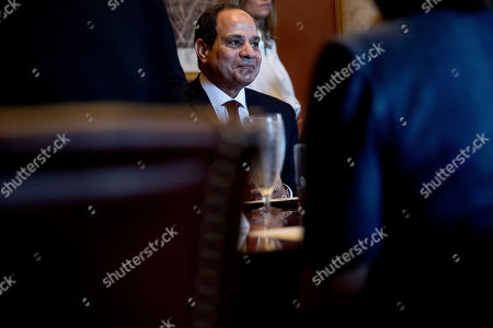 Egyptian President Abdel Fattah Al-Sisi attends a meeting with House Speaker Paul Ryan of Wis., in Ryan's office on Capitol Hill in Washington