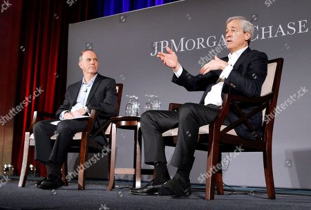 Jamie Dimon, Andy Serwer Jamie Dimon, right, Chairman and CEO of JPMorgan Chase, and Andy Serwer, Editor-in-Chief, Yahoo Finance, discuss Dimon's Annual Letter to Shareholders on at the Chamber of Commerce of the United States of America in Washington, DC