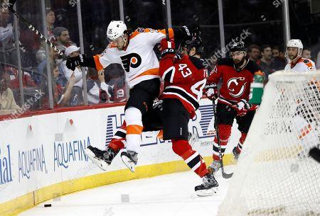 Editorial image of Philadelphia Flyers v New Jersey Devils, NHL hockey game, Newark, USA - 04 Apr 2017