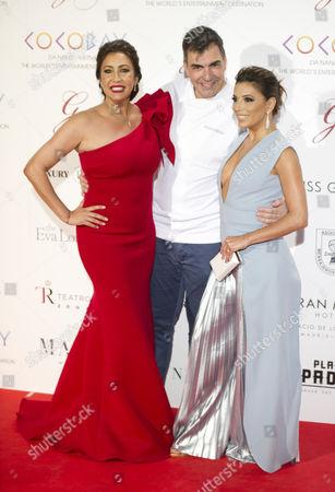 Maria Bravo, Ramon Freixa and Eva Longoria