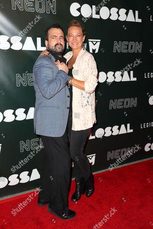 Nacho Vigalondo and Zoe Bell