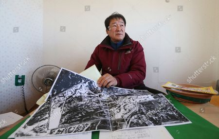 In this, Kim Tae-young, who works with remaining inmates on the land ownership disputes, during an interview in Seosan, South Korea. Decades after they were forcefully mobilized for land reclamation works, ex-vagrants in South Korea want to get back land they were promised. Critics say late dictator Park Chung-hee, father of ousted President Park Geun-hye, wanted to clear city streets of vagrants and resettle them while providing labor to rebuild the country from the ashes of Korean War
