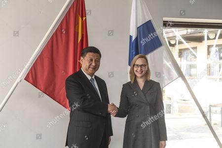 Maria Lohela and Xi Jinping