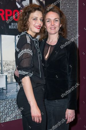 French actresses Celine Sallette and Violaine Fumeau