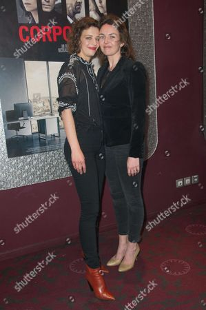 Stock Picture of French actresses Celine Sallette and Violaine Fumeau