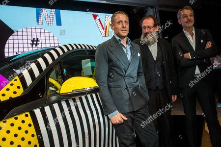 Lapo Elkann, Michele De Lucchi designer and Adrian Van Hooydonk, Design Director of BMW