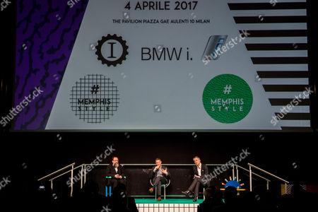 Michele De Lucchi designer, Lapo Elkann and Adrian Van Hooydonk designer