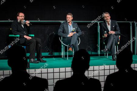 Michele De Lucchi designer, Lapo Elkann, Adrian Van Hooydonk, Design Director of BMW