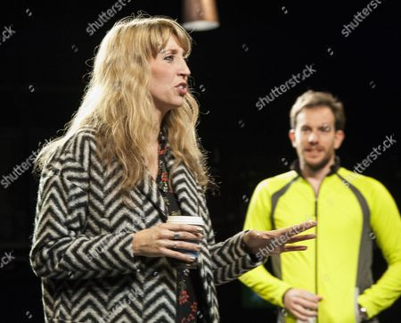 Daisey Haggard as Zara and Pip Carter as Matt in a performance of the Consent at the National theatre