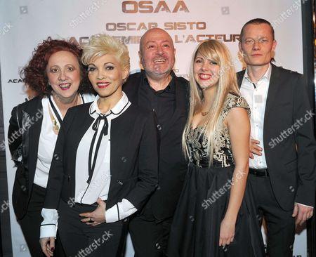 Stock Picture of Eliane Sand, Ysa Ferrer, Oscar Sisto, Margaux le Dorze, Benoit Badin