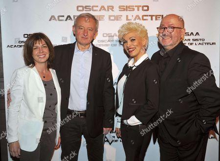 Yann Queffelec and wife Servane, Ysa Ferrer, Oscar Sisto