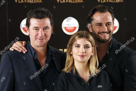 Julio Medem, Asier Etxeandia and Miriam Giovanelli
