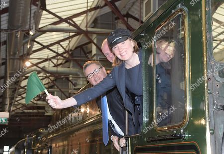 Heritage and Tourism Minister Tracey Crouch on a visit to the STEAM Museum in Swindon with, Robert Buckland QC.MP Swindon South, and Justin Tomlinson MP Swindon North