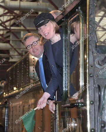 Heritage and Tourism Minister Tracey Crouch on a visit to the STEAM Museum in Swindon with Robert Buckland QC. MP. (Swindon South)