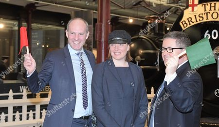 Heritage and Tourism Minister Tracey Crouch on a visit to the STEAM Museum in Swindon with Justin Tomlinson MP, Robert Buckland QC.MP