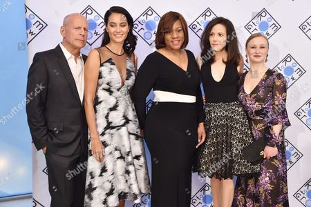 Bruce Willis, Emma Heming, Jeanette Cofiled, Mary-Louise Parker and Allyson Crawford