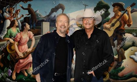 Alan Jackson, Don Schlitz Songwriter Don Schlitz, left, and singer and songwriter Alan Jackson pose after it was announced, in Nashville, Tenn., that they are the 2017 inductees into the Country Music Hall of Fame along with the late singer and songwriter Jerry Reed