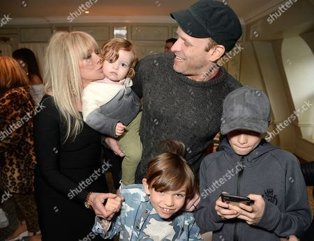 Stock Photo of Jo Wood and Jamie Wood with family