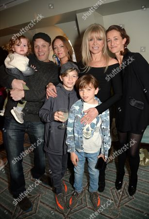 Jamie Wood, Jo Wood and Leah Wood with family