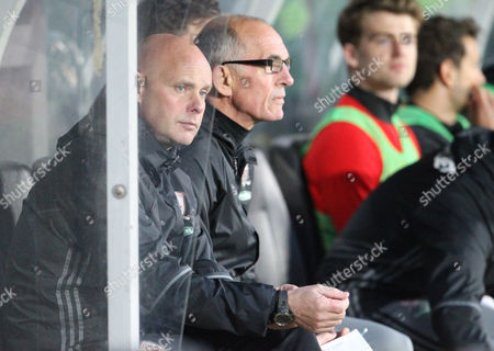 Middlesbrough's Head Coach Steve Agnew and Middlesbrough's Attacking Coach Joe Jordan during the Premier League match between Hull City and Middlesbrough on Wednesday 5th April 2017 at The KCOM Stadium, Hull