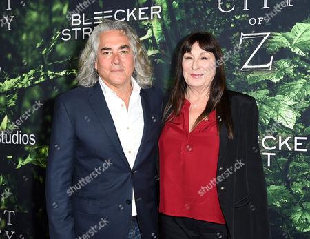 Mitch Glazer and Anjelica Huston