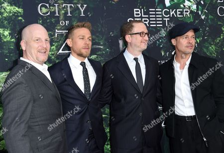 Dale Johnson, Charlie Hunnam, James Gray and Brad Pitt