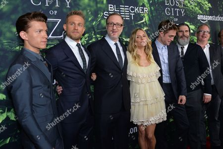 Tom Holland, Charlie Hunnam, James Gray, Sienna Miller, Robert Pattinson, Anthony Katagas and Ted Hope