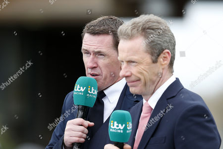 itv racing correspondents Tony McCoy and Mick Fitzgerald during day one of the Randox Health Grand National festival held at Aintree, Liverpool on 6th April, 2017