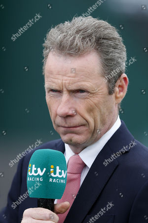 itv racing correspondent Mick Fitzgerald during day one of the Randox Health Grand National festival held at Aintree, Liverpool on 6th April, 2017