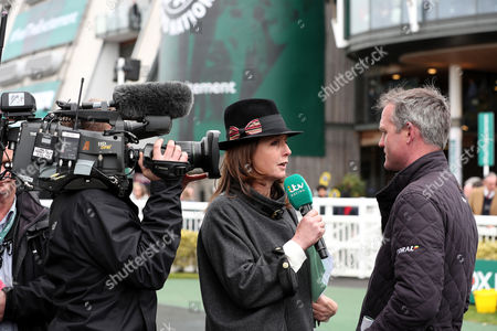 itv racing correspondent Alice Plunkett during day one of the Randox Health Grand National festival held at Aintree, Liverpool on 6th April, 2017
