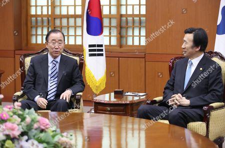 Ban Ki-moon and Yun Byung-se