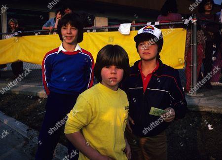 Editorial photo of Adam Rich, Jason Bateman, and Glenn Scarpelli - 1982