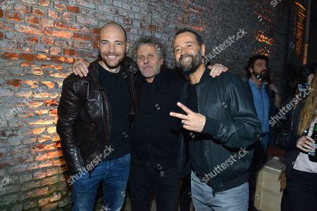Andrea Pezzi, Renzo Rosso, Fabio Volo