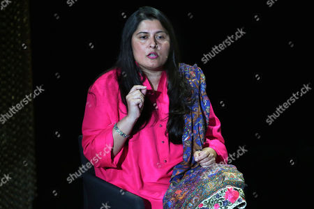 Academy Award-Winning Filmmaker and CEO of SOC Films Sharmeen Obaid Chinoy, from Pakistan, speaks during the Women in the World Summit at Lincoln Center in New York