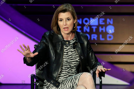 Stock Picture of Ellevest CEO and Co-Founder Sallie Krawcheck speaks during the Women in the World Summit at Lincoln Center in New York